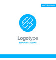 link chain url connection link blue solid logo vector image vector image