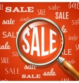 Magnifier and sale vector image