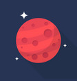 mars icon set of great flat icons with style vector image