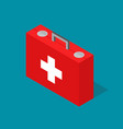 medical case first aid kit isometric view vector image vector image