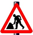 Men at Work Traffic Sign vector image vector image