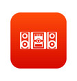 music center icon digital red vector image vector image
