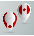 paper of map marker for maps canada vector image vector image
