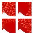 peeling Valentine's cards vector image vector image