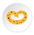 pretzel icon circle vector image vector image