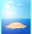 realistic summer sand island ocean sea sky vector image