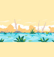 river game background landscape vector image vector image