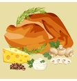 Roast Chicken grilled vector image vector image