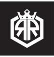 Rr logo monogram rounded hexagon shape