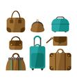 set of handbags isolated on white background vector image vector image