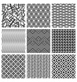 Set of nine geometrical patterns vector image vector image
