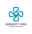 symbol logo plus medical design vector image
