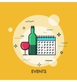 Thin line flat design banner for events web page vector image