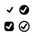 tick check mark icon vector image