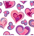 Valentines day artistic hand drawn colorful hearts vector image vector image