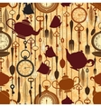 Vintage seamless tea time pattern vector | Price: 1 Credit (USD $1)