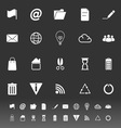 Web and internet icons on gray background vector image vector image