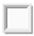 white stylish photo frame vector image