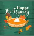 happy thanksgiving round bright orange homemade vector image