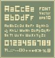 Paper font vector image