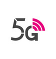 5g logo 5th generation wireless internet vector image vector image