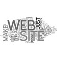 a much easier way to make your own web site text vector image vector image
