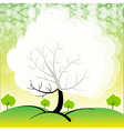 A stationery with trees vector image vector image