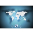 Air traffic background with world map vector image vector image