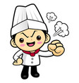 an angry cook character have a fit of anger vector image