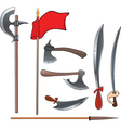 Ancient weapons setAncient weapons set vector image