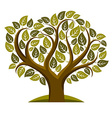 Art of tree with green leaves spring season vector image vector image
