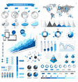blue infographics elements collection full vector image