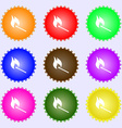 burning match icon sign Big set of colorful vector image