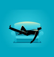 businessman taking a nap on sofa vector image vector image