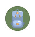 camping backpack flat icon vector image vector image