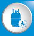 camping gas bottle icon vector image vector image