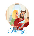 cartoon concept happy family vector image