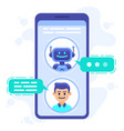 chat bot communication smartphone chatting vector image