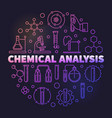 chemical analysis colorful round outline vector image
