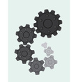 Cogs in a spiral vector image