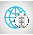 connection concetp globe business wifi vector image vector image