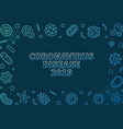 coronavirus disease 2019 colored linear vector image vector image