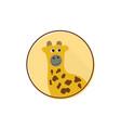 cute giraffe mascot logo vector image vector image