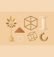 decorative items for 3d boho design vector image