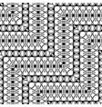 design seamless monochrome zigzag pattern vector image vector image