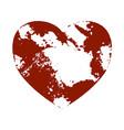 distress heart shape vector image vector image