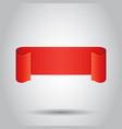 empty ribbon icon blank sticker label on gray vector image vector image