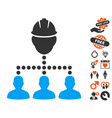 engineer staff relations icon with love bonus vector image