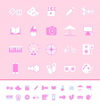 Entertainment color icons on pink background vector image vector image