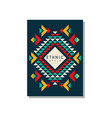 ethnic style card template abstract design ethno vector image vector image